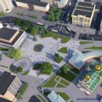 Перспектива №1 - Проект реконструкції Театрального майдану у місті Луцьку