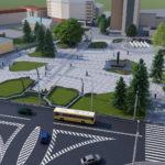 Перспектива №3 - Проект реконструкції Театрального майдану у місті Луцьку