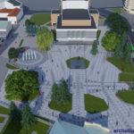 Перспектива №4 - Проект реконструкції Театрального майдану у місті Луцьку